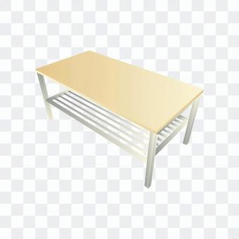 木質矮桌(白色)