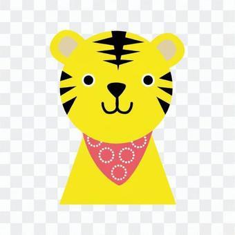 A scarfed tiger