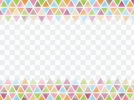 上下框架:三角多彩