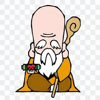 The Seven Deities of Good Fortune, Fu Lu Shou