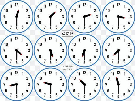 每小時30分鐘計時