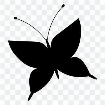蝴蝶(剪影)的圖像