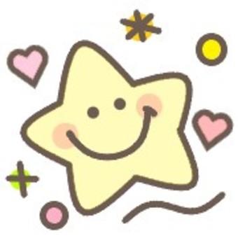 星星可愛粉彩臉