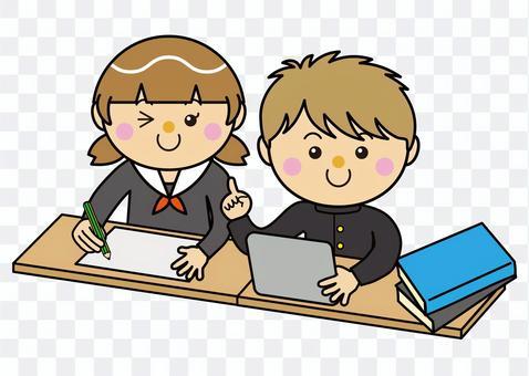 學生12_01(男女平板電腦學習)