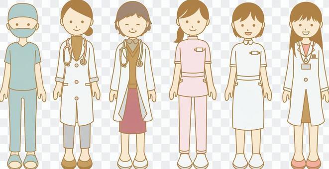 醫療婦女的例證