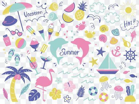 在夏天02設置的寬鬆裝飾