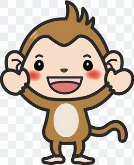 Monkey's illustration B