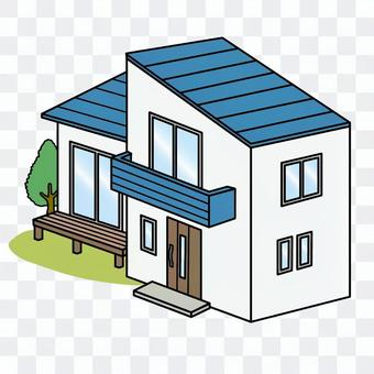 Detached house Newly built house Roof outer wall Secondhand housing