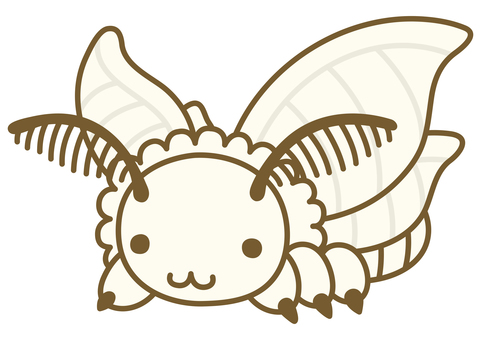 Cute silk moth illustration