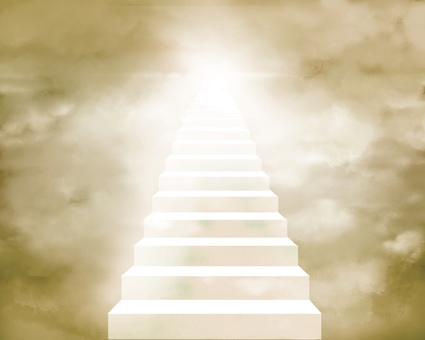 Stairs leading to heaven Background illustration 3