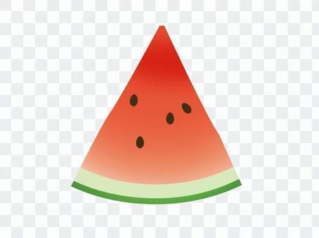 Triangular watermelon