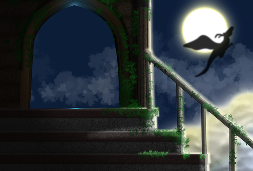 Moonlight and dragon