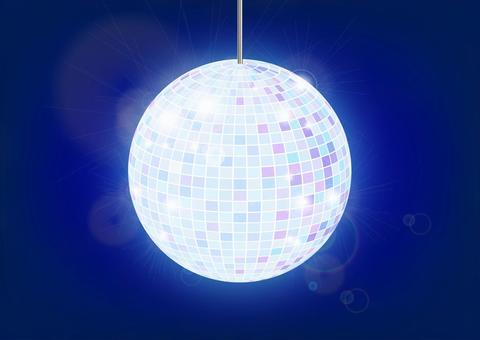 鏡球(藍色)