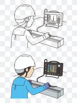 非破壊検査(超音波探傷試験)