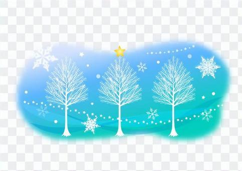 冬天童話的例證