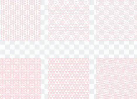淺粉色簡單圖案2(透明背景)