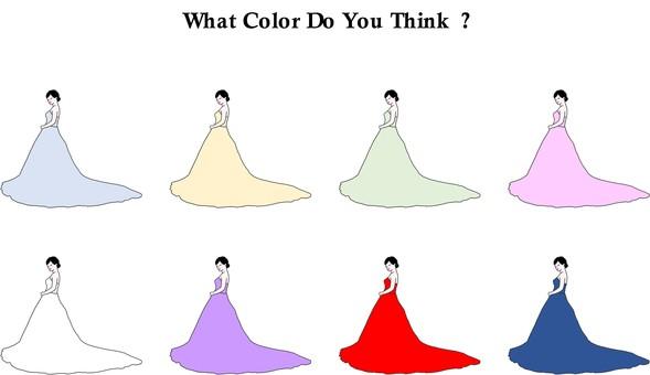 顏色連衣裙 連衣裙顏色猜謎