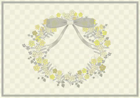 含羞草花環的插圖