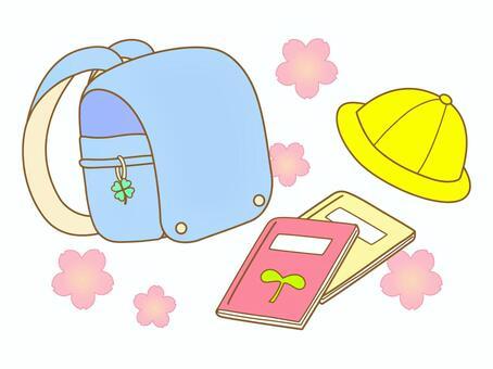 淺藍色的書包