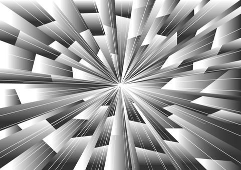 強力集中線(單色)