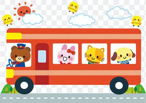 觀光巴士動物