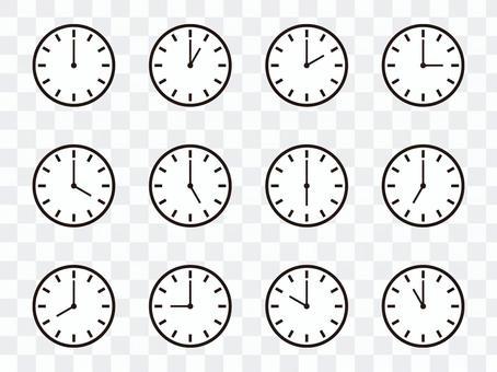 簡單掛鐘(條形索引)