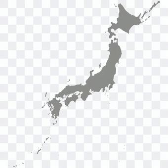 日本地図_シルエット