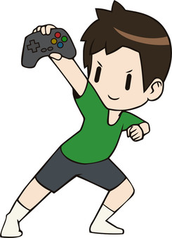 Boy with controller