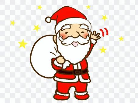 聖誕老人揮手