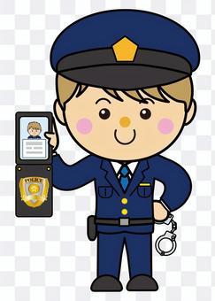 男39_10(警察,手銬,警察手冊)