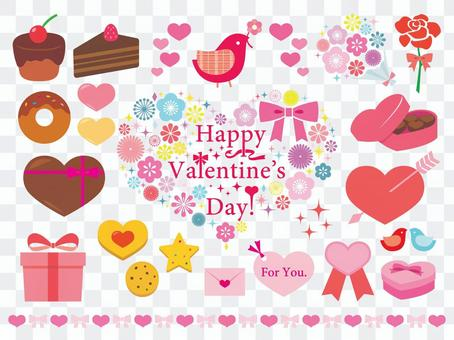 Valentine clipart graphics collection