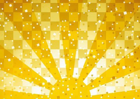 Sunrise Japanese style background 03