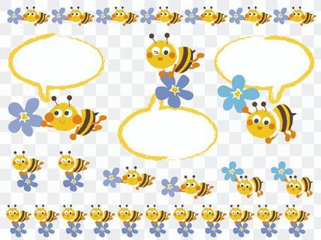 honeybee_ bees and flowers