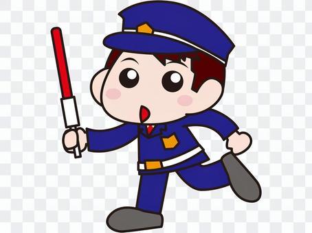 Security guard - a young man