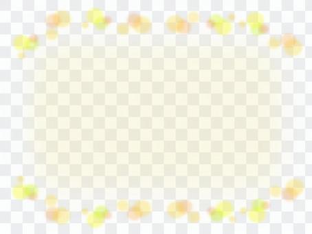 波爾卡圓點圖案黃色框架材料