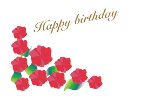 Red Roses birthday birthday card