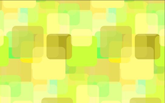 黃系(黃綠色)方形大小圖案背景