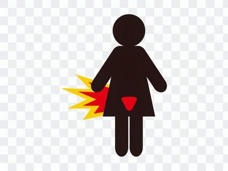 Icon uterus black