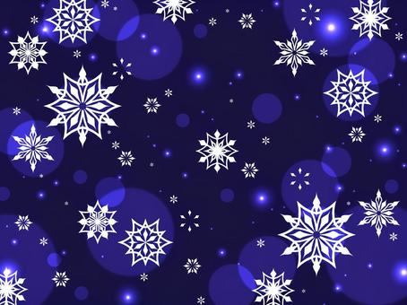 雪の結晶のイラスト背景