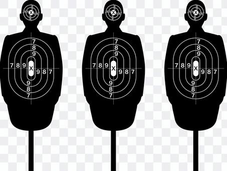 射撃に使う人の形のターゲット