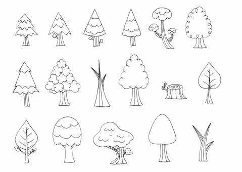 ⑦ Pen tree set