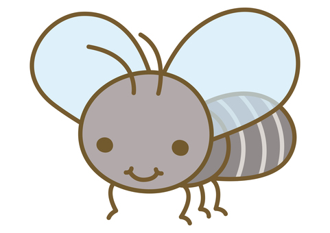 Cute fly illustration