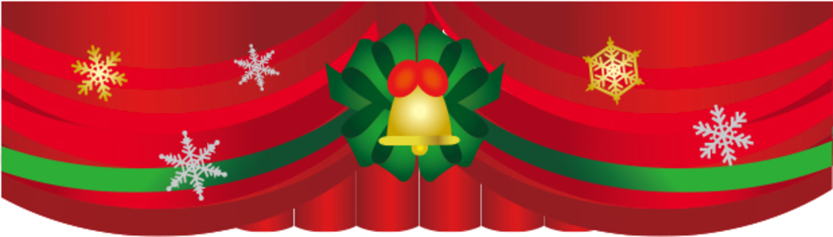Christmas stage curtain
