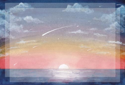 日出的流星雨(方形空間)