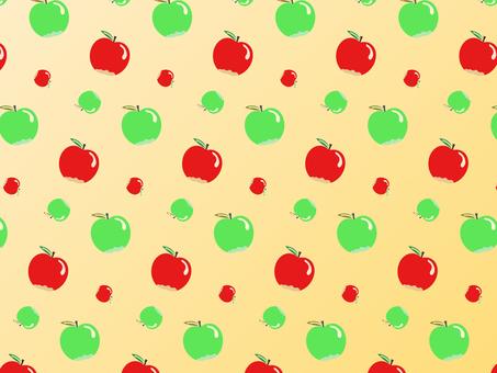 帶背景顏色的蘋果和青蘋果圖案