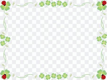 三葉草和白色的三葉草框架