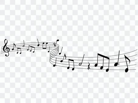 Music · Note illustration 10 · Flowing music