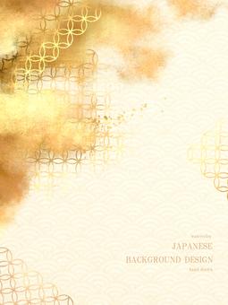 新年賀卡青海波日本背景 45