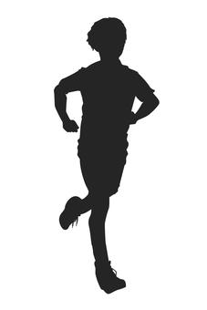 馬拉松運動員剪影