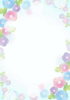 柔和的顏色asagao背景2